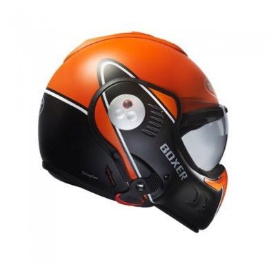Roof Boxer V8 Devil Orange Noir Mat Moto Boutique