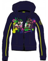 VR46 Fleece ZIP Lady 206102 Bleu