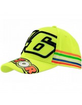 VR46 Cap Stripes 305028 Jaune Fluo