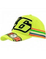 VR46 Cap Stripes 305028 neon gelb