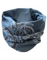 Necktube (Protège cou) Bleu Blanc Noir