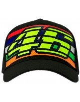 VR46 Cap Stripes 350204 Noir