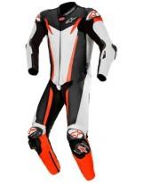 GP Tech V3 1pc Suit Weiss Schwarz Fluo Rot