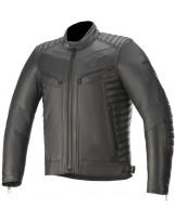 Burstun Leather Jacket Schwarz