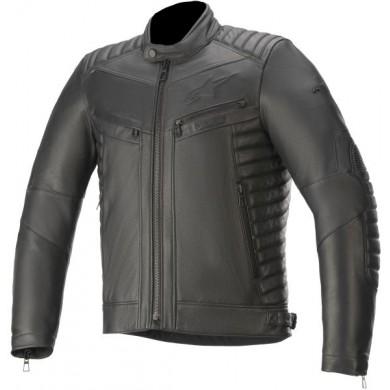 Burstun Leather Jacket Noir