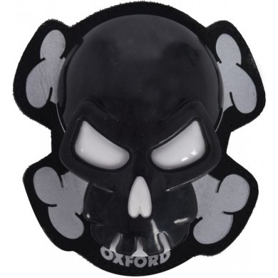 Skull Knee Sliders Black