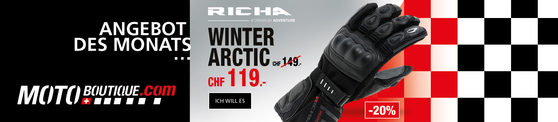 Angebot des monat winter handshuhe Richa Arctic