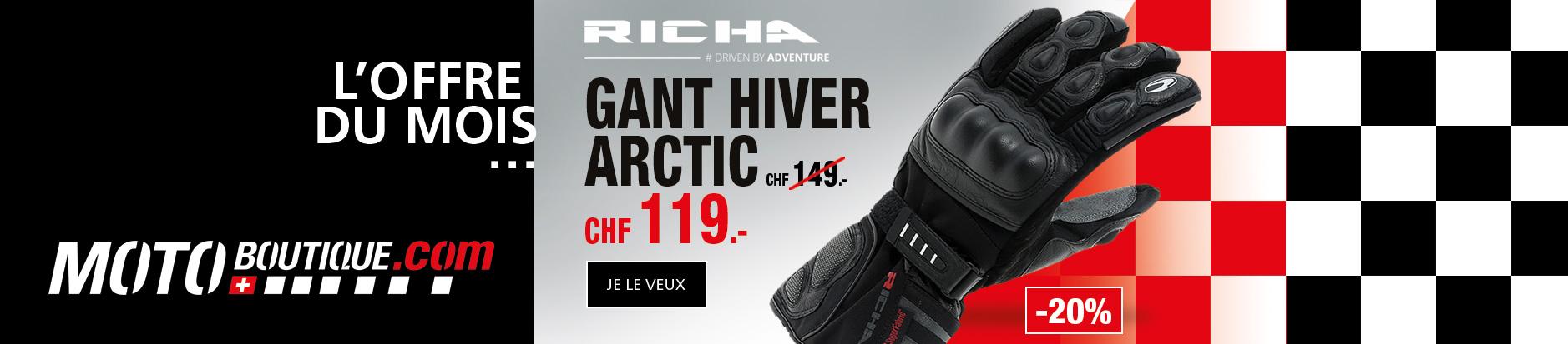 Offre du mois gant hiver Richa Arctic